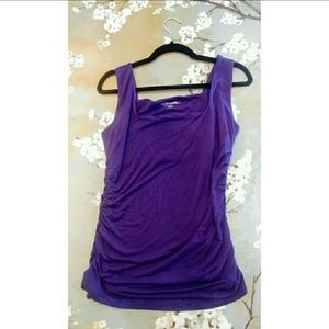 Soft Surroundings Tank Runched Side Workout
